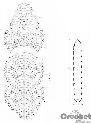 White crochet scarf with openwork leaves for women | Mycrochetpattern