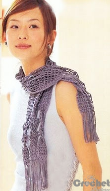 crosswise crochet scarf photo