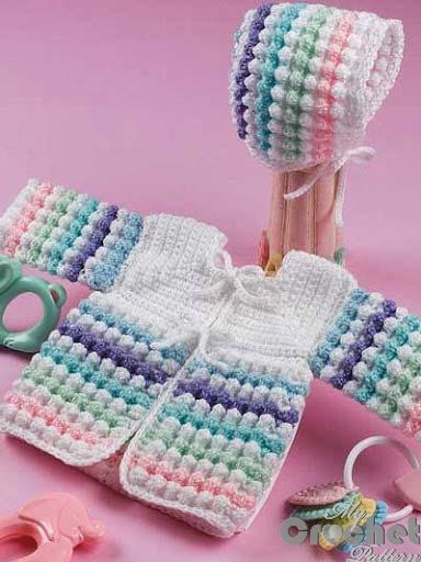 Colored crochet blouse photo