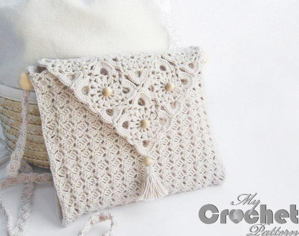 simple crochet purse with delicate motifs photo