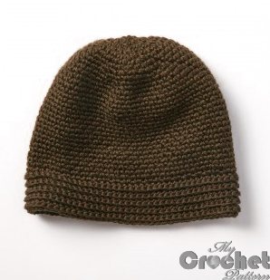 brown crochet street hat photo