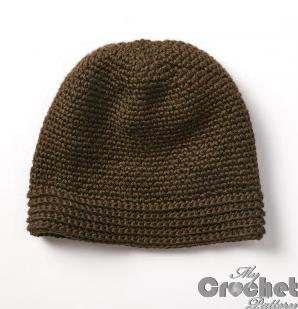 brown crochet street hat photo