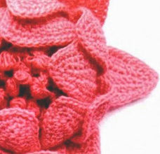 Beautiful red crochet peony flower preview