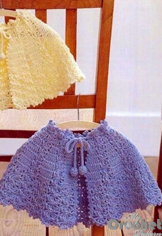 Blue crochet poncho pattern preview
