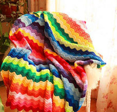 Crochet colorful blanket pattern - rainbow preview
