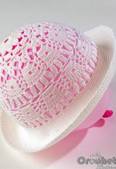 Crochet hat Gabriel pattern preview