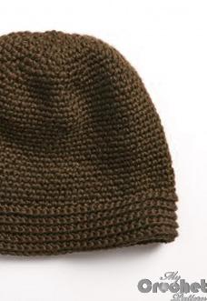 Crochet street hat pattern preview