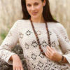 Crochet sweater with filet pattern preview