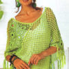 Light green crochet poncho preview