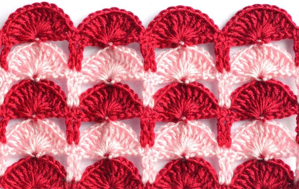 multicolor crochet shell pattern photo