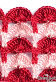 multicolor crochet shell pattern photo
