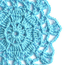 blue big flower motif