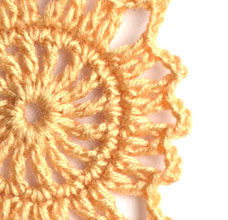 brown sunflower crochet motif pattern