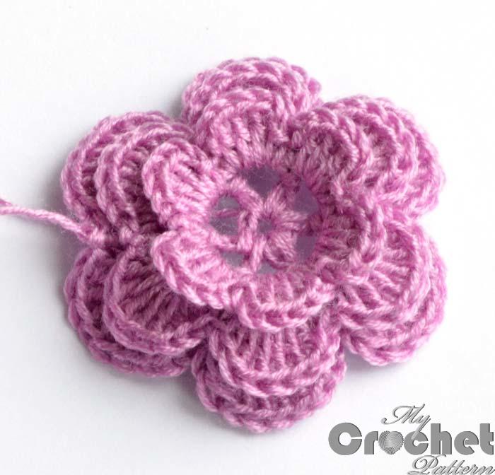 crochet small pink rose pattern mycrochetpattern