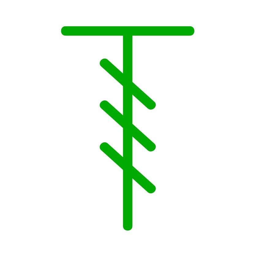 double treble crochet - dtrc - stitch symbol