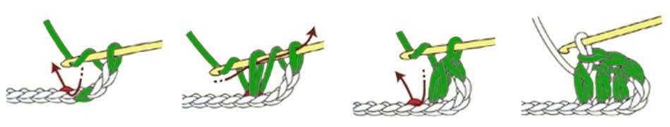 half double crochet - stitches guide