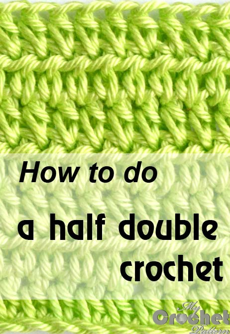how to do a half double crochet - image