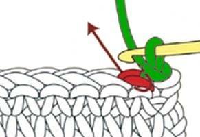 how to do a slip stitch - step 3