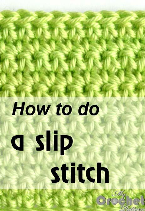 how to do a slip stitch - photo