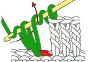 how to do a treble crochet - step 3