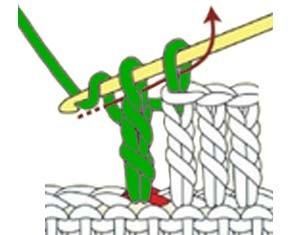 how to do a treble crochet - step 5