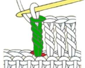 how to do a treble crochet - step 6