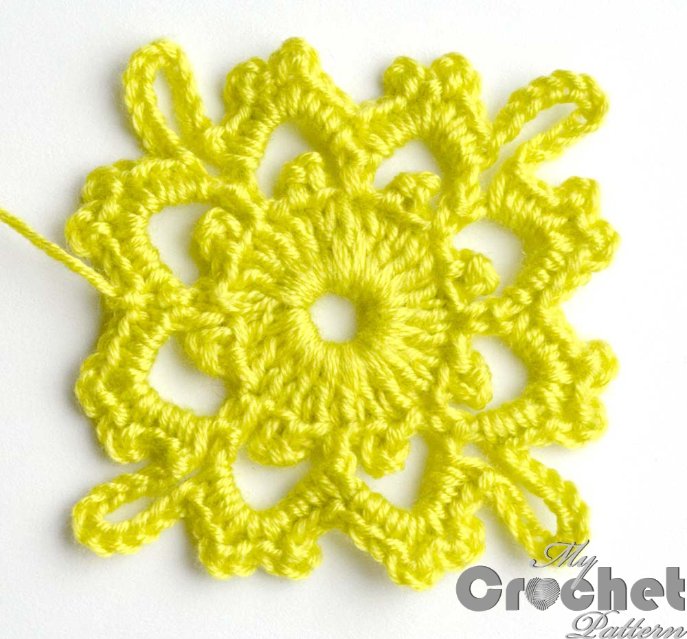 lemon square flower motif - big photo