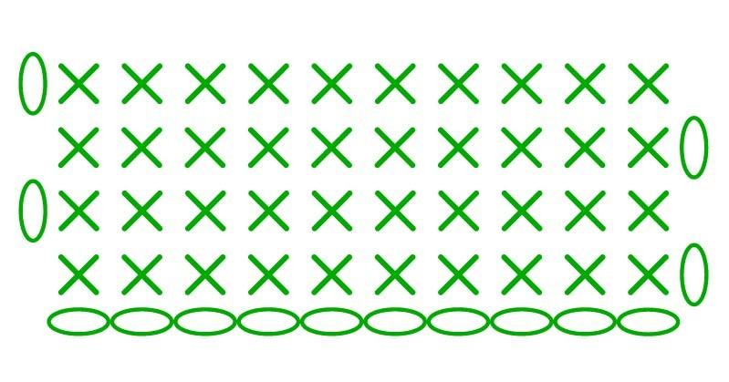 single crochet - stitches scheme
