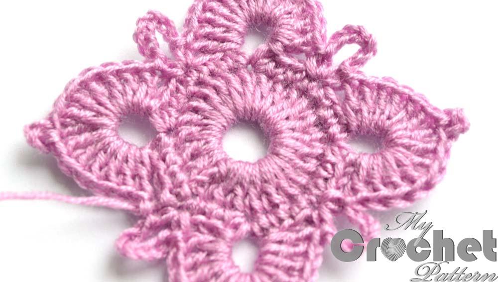 square purple flower motif - close photo2