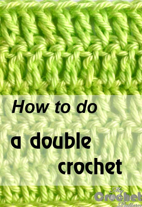 how to do a double crochet