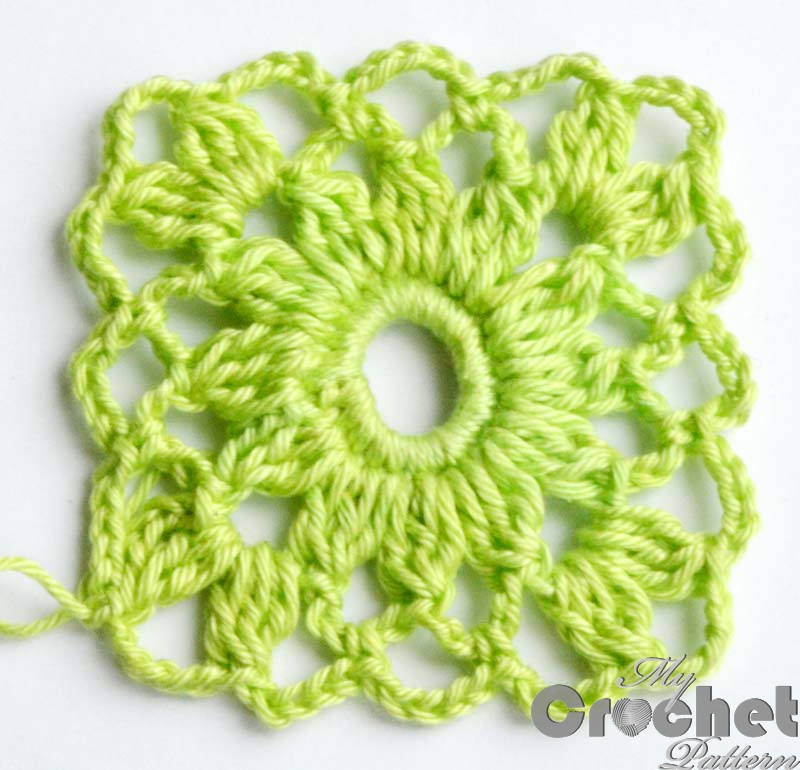 light green flower motif
