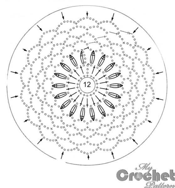 flower motif red center pattern