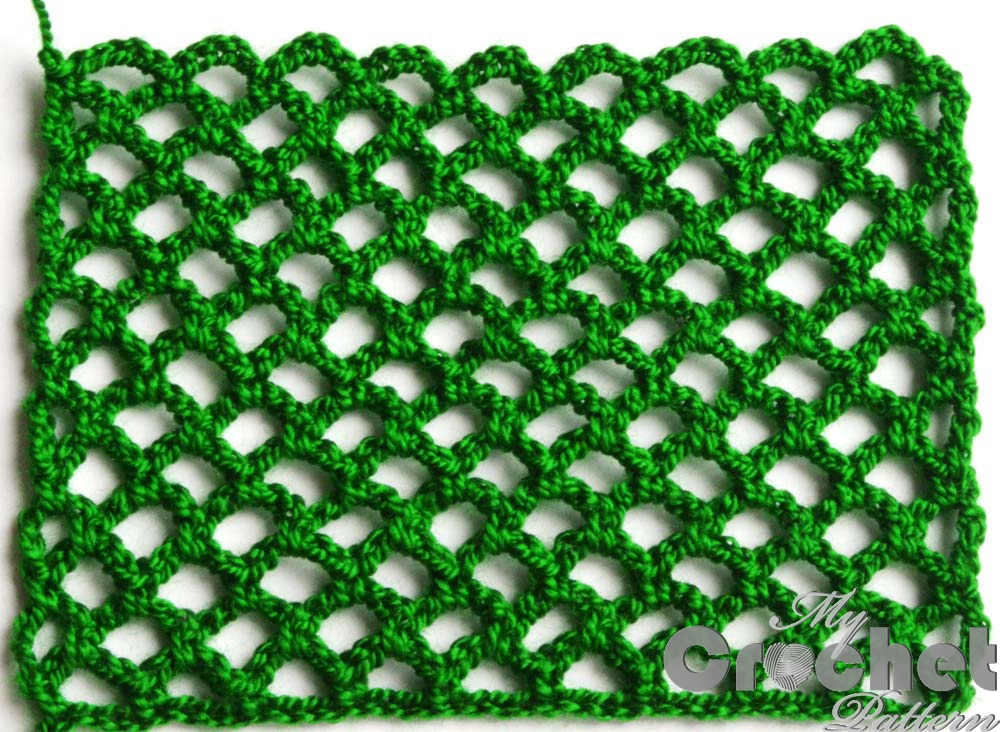 green lace network pattern - big photo