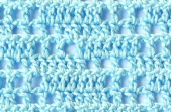 light blue filet crochet pattern