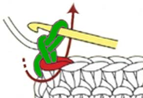 crab stitch - step 1