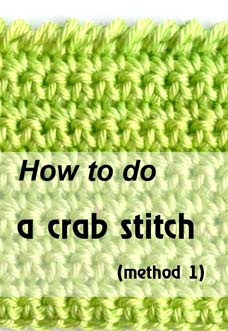 how to do a crab stitch