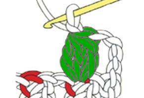 3 dc cluster in 1 chain stitch - step 10