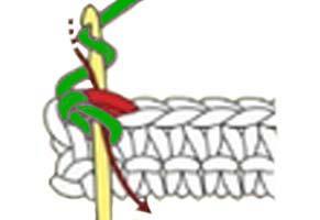 reverse single crochet stitch - step 1