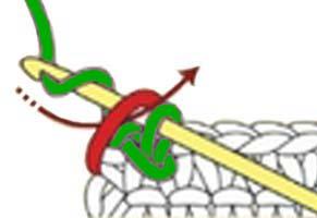 reverse single crochet stitch - step 3
