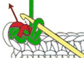 reverse single crochet stitch - step 6