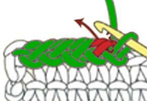 reverse single crochet stitch - step 8