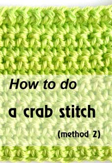how to do a crab stitch - photo
