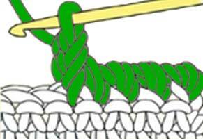 twisted single crochet - step 4