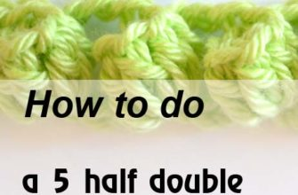 5 half double crochet popcorn in same stitch - preview