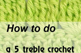 5 treble crochet cluster in one chain stitch - preview