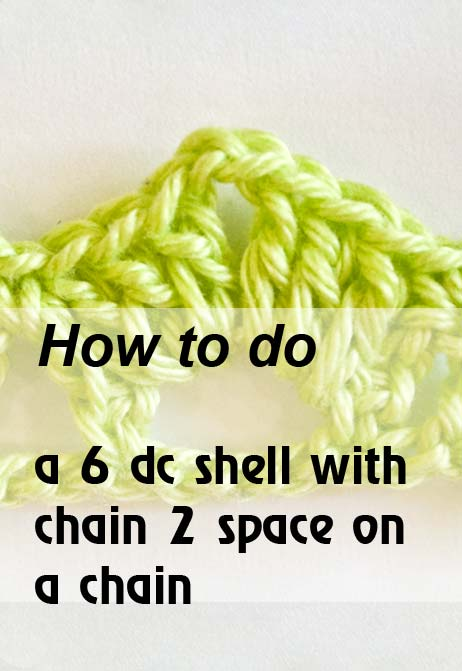 6 dc shell with chain 2 space on a chain - preview