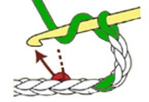 V-stitch - step 1