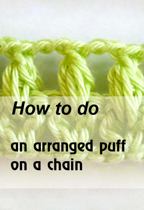 arranged puff on a chain - preview