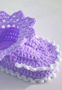 baby booties crochet pattern for beginners - preview