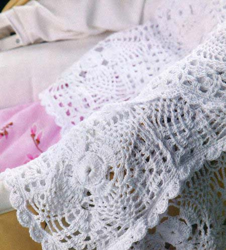beautiful crochet baby blanket with square motifs - big photo